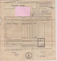 CROATIA  - KROATIEN   -  NDH,   NEZAVISNA DRZAVA HRVATSKA   ~  PLATEZNI NALOG  ~  PAYMENT ORDER, ZAHLUNGSAUFTRAG ~  1945 - Historical Documents