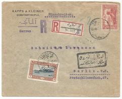 Ottoman Empire Turkey Türkei Turquie Registered Cover 1917 To Germany Constantinople - 1858-1921 Ottoman Empire