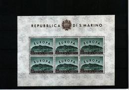 San Marino 1961 Europa Cept Kleinbogen / Sheet Of 6 Postfrisch / MNH - Europa-CEPT