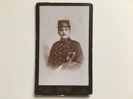 Cdv Photo Portrait Soldat Militair Officer? 16 Foto Soler Tunis - War, Military