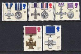 GREAT BRITAIN GB - 1990 GALLANTRY AWARDS SET (5V) FINE MNH ** SG 1517-1521 - 1952-.... (Elizabeth II)