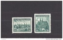 Czechoslovakia 1938 MNH ** Mi.400-401 Sc 249-250  Exhibitions Plzen And Kosice. - Unused Stamps