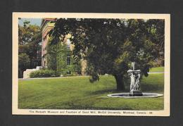 MONTRÉAL - QUÉBEC - McGILL UNIVERSITY THE REDPATH MUSEUM AND FOUNTAIN OF GOOD WILL - POSTMARKED 1942 NICE STAMP BY PECO - Montreal
