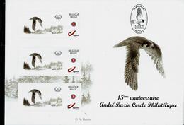 Feuillet  15 ° Anniv. Cercle Phila André Buzin     Rapace   (3 Timbres   Intérieur) (**) - 1985-.. Oiseaux (Buzin)