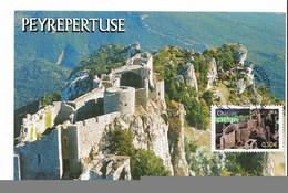 Château De PEYREPERTUSE - CM 100% - TBE ( Voir Scan) - Cartes-Maximum