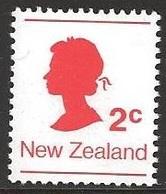 1978 Queen Elizabeth Coils, 2 Cents, Never Hinged - Nouvelle-Zélande