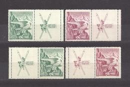 Czechoslovakia 1938 MNH ** Mi 387-388 Zf R+L Sc 241-242 Winter Sokol Games. 2x Coupons. - Czechoslovakia