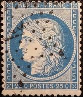 FRANCE Y&T N°60A Cérès 25c Bleu. Oblitéré étoile De Paris N°4 - 1871-1875 Ceres