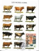 La Vache - CM - Oblit 1er Jour Sur Timbre N°3664 - PE - Cartes-Maximum