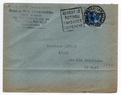 """1928--Lettre NOGENT LE ROTROU-28 Pour LE MANS-72-Daguin"""" Pays Du Perche """"-Type Jeanne D'Arc - Marcophilie (Lettres)"""