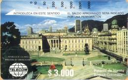 Colombia - CO-MT-01, Tamura, Palace Narino, Bogota, 3,000 $, Used As Scan - Kolumbien