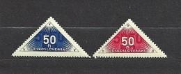 Czechoslovakia 1937 MNH ** Mi Zu 359-360 Sc EX1-2  Delivery Stamps,  Zustellungsmarken. - Tchécoslovaquie