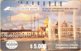 Colombia - CO-MT-02, Tamura, Colonial Architecture, Cartagena, 5,000 $, Used As Scan - Kolumbien