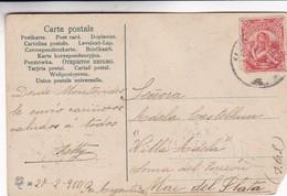 MONTEVIDEO, ALTA CORTE DE JUSTICIA. CIRCULEE 1910 MONTEVIDEO A MAR DEL PLATA. FDMF - BLEUP - Uruguay