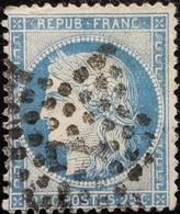 FRANCE Y&T N°60A Cérès 25c Bleu. Oblitéré étoile De Paris N°7 - 1871-1875 Ceres