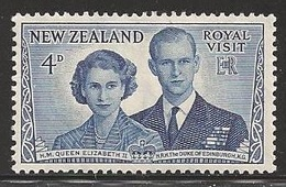 1953 Royal Visit, 4d, Never Hinged - New Zealand