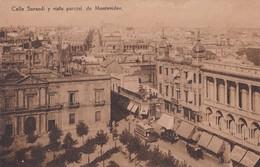 CALLE SARANDI Y VISTA PARCIAL DE MONTEVIDEO, URUGUAY. CIRCA 1900s OLD VIEW VINTAGE RARE - BLEUP - Uruguay