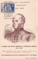 HOMENAJE Y RECUERDO DEL CENTENARIO 1830-1930 GENERAL JOSE DE ARTIGAS. STAMP 2 CTS ROUGE, OBLITERE - BLEUP - Uruguay