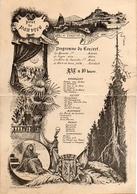 Programme Bal De Charité Pour Les Pauvres, Concert 7 Janvier 1888 (gravure A Ducha...? éditeur Marchessou, Le Puy (13x18 - Programs