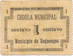 CÉDULA DO MUNICIPIO DE REGUENGOS - 1 CENTAVO - Portugal