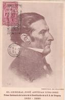 HOMENAJE Y RECUERDO DEL CENTENARIO 1830-1930 GENERAL JOSE DE ARTIGAS(ESTUDIO BLANES).TIMBRE 2 CTS ROUGE, OBLITERE- BLEUP - Uruguay