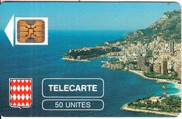 MONACO - Rocher De Monaco, First Issue 50 Unites, Chip SC4, CN : 106772, Tirage %10200, 08/89, Used - Monaco