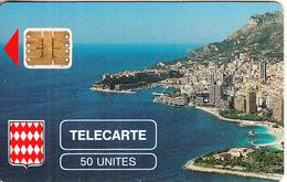 MONACO - Rocher De Monaco, First Issue 50 Unites, Chip SC3, CN : 107639, Tirage %5000, 08/89, Used - Monaco
