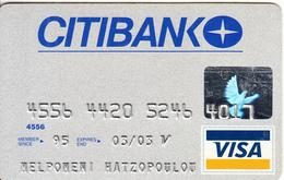 GREECE - CitiBank Visa(reverse Oberthur), 12/00, Used - Cartes De Crédit (expiration Min. 10 Ans)