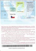 Czech Republic International Reply Coupon IRC 2017 ISTANBUL ICR IRC CRI Hologram 110 Years - Poste