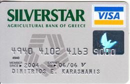 GREECE - Siverstar, Agricultural Bank Visa(reverse Oberthur), 03/03, Used - Cartes De Crédit (expiration Min. 10 Ans)