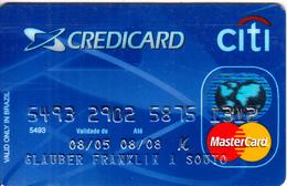 BRAZIL - Citi Bank Master Card(reverse Daruma-Orga), 05/05, Used - Credit Cards (Exp. Date Min. 10 Years)