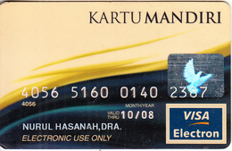 INDONESIA - Bank Mandiri, Visa Electron(reverse SCG), 07/03, Used - Cartes De Crédit (expiration Min. 10 Ans)