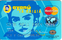 GREECE - I Love The Kids, National Bank Master Card(reverse Schlumberger Solaic), 07/99, Used - Cartes De Crédit (expiration Min. 10 Ans)