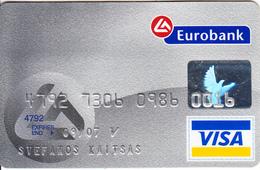 GREECE - Euro Bank Visa(reverse Axalto), 10/04, Used - Cartes De Crédit (expiration Min. 10 Ans)