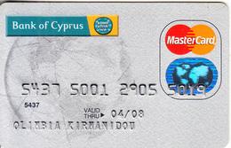 GREECE - Bank Of Cyprus Master Card(reverse Axalto), 12/06, Used - Cartes De Crédit (expiration Min. 10 Ans)