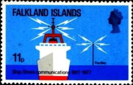 SCIENCE- TELECOM-SHIP TO SHORE COMMUNICATIONS-FALKLAND ISLANDS-1977- SCARCE-MNH-B3-863 - Telecom