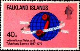 SCIENCE- TELECOM-INTERNATIONAL TELEX AND TELEPHONE SERVICES-FALKLAND ISLANDS-1977- SCARCE-MNH-B3-863 - Telecom