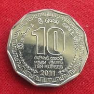 Sri Lanka 10 Rupees 2011 Wºº - Sri Lanka
