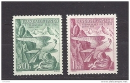 Czechoslovakia 1938 MNH ** Mi 387-388 Sc 241-242 Falcon Falke. Winter Sokol Games - Czechoslovakia