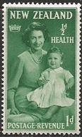 1950 Health, 1d+1/2d, Hinged - New Zealand