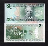 1994 DAA4245347 LITUANIE, LITUAN, LITHUANIA DU LITAI UNC Very Early Printing . Image Mr Motiejus Kazimieras Valančius - Lituanie