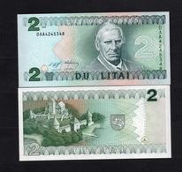 1994 DAA4245348 LITUANIE, LITUAN, LITHUANIA DU LITAI UNC Very Early Printing . Image Mr Motiejus Kazimieras Valančius - Lithuania