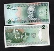 1994 DAA4245346 LITUANIE, LIETUVA, LITHUANIA DU LITAI UNC Very Early Printing . Image Mr Motiejus Kazimieras Valančius - Lituanie
