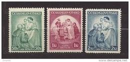 Czechoslovakia 1936 MNH ** Mi 342-344 Sc B144-B146 For Childs - Czechoslovakia