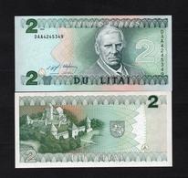 1994 DAA4245349 LITUANIE, LIETUVA, LITHUANIA DU LITAI UNC Very Early Printing . Image Mr Motiejus Kazimieras Valančius - Lituanie