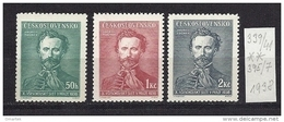 Czechoslovakia 1938 ** Mi 395-397 Sc 246-248 X.Allslawischen Sokolspielen In Prag - Czechoslovakia