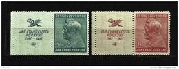 Czechoslovakia 1937 MNH ** Mi 377-378 Zf L Sc 232-233 150. Birthday J.E.Purkyne - Czechoslovakia