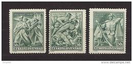 Czechoslovakia 1938 MNH ** Mi 392-394 Sc 243-245 Czechoslovakia Legions. 20.Jahrestag Der Legion. - Czechoslovakia