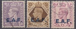 GRAN BRETAGNA - SOMALIA - EAST AFRICAN FORCES - 1943 - Lotto Di Tre Valori Usati: Yvert 4, 6 E 8. - Great Britain (former Colonies & Protectorates)