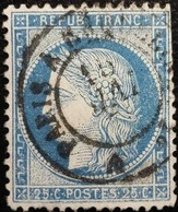 FRANCE Y&T N°60A Cérès 25c Bleu. Oblitéré Paris - 1871-1875 Ceres